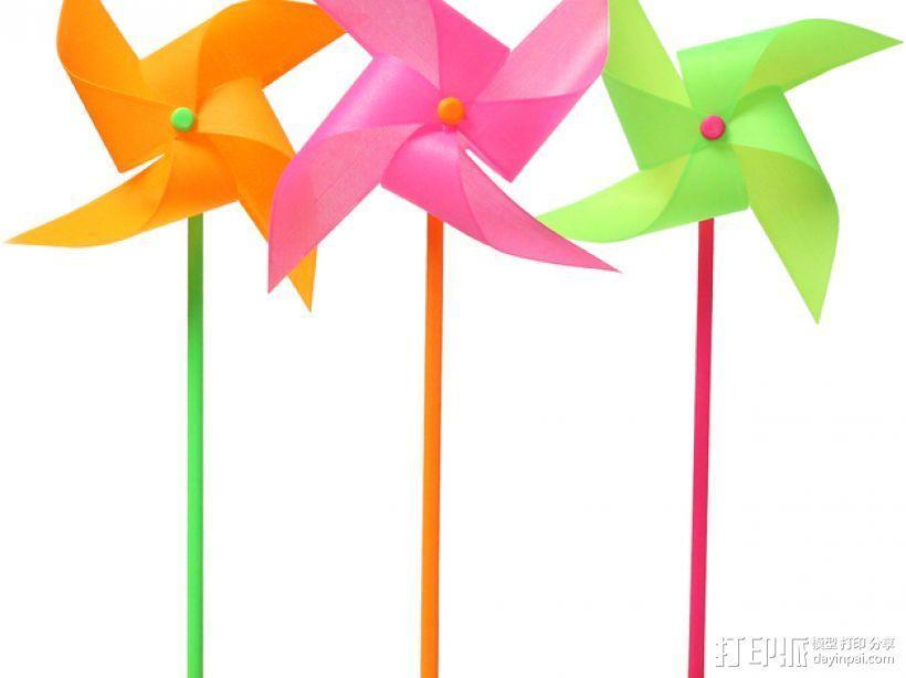 玩具风车模型 3D模型  图1