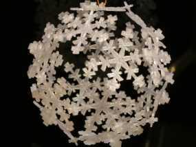 雪花形十二面体装饰物 3D模型