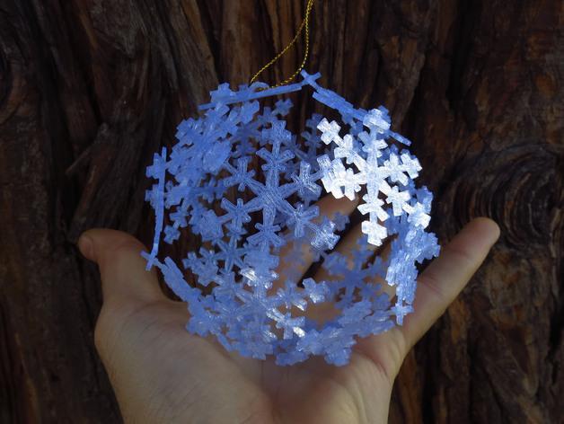 雪花形十二面体装饰物 3D模型  图2