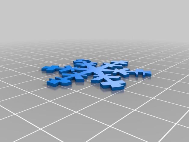 雪花形十二面体装饰物 3D模型  图4