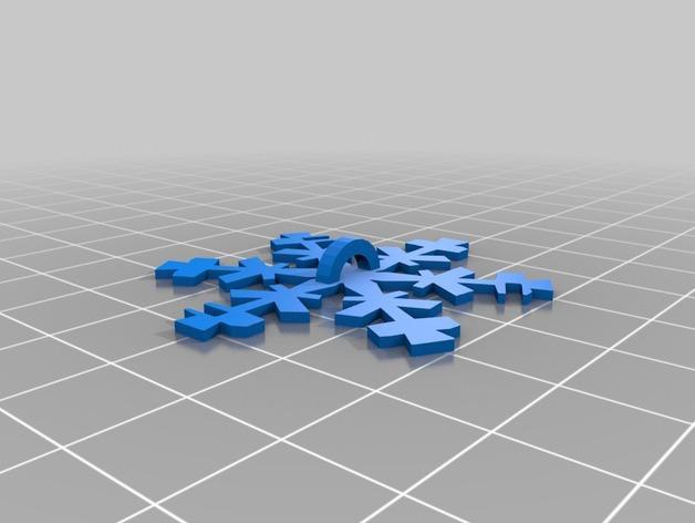 雪花形十二面体装饰物 3D模型  图5