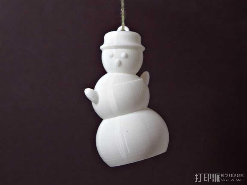 会跳舞的小雪人模型 3D模型  图1
