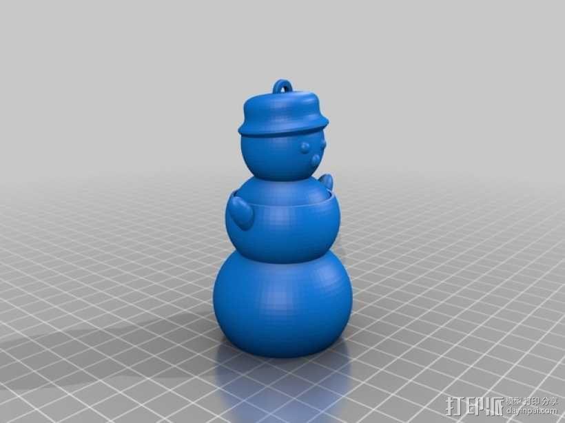 会跳舞的小雪人模型 3D模型  图2
