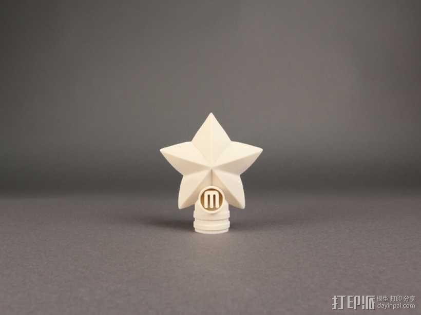 圣诞树顶部星星装饰物  3D模型  图1