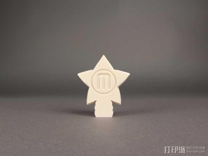 圣诞树顶部星星装饰物  3D模型  图2