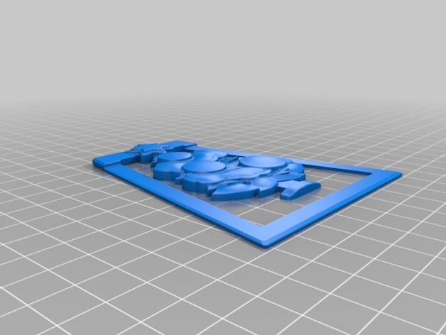 圣诞树形书签模型 3D模型  图2