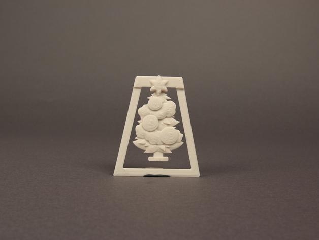 圣诞树形书签模型 3D模型  图3
