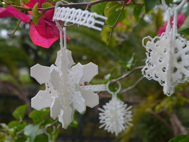 定制化雪花装饰物 3D模型  图1