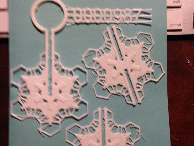 定制化雪花装饰物 3D模型  图3