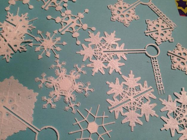 定制化雪花装饰物 3D模型  图2