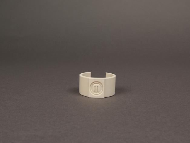 包装纸固定环模型 3D模型  图1