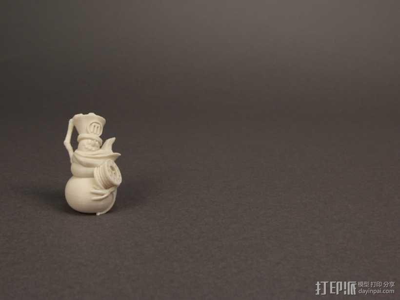 雪人饰品模型 3D模型  图3