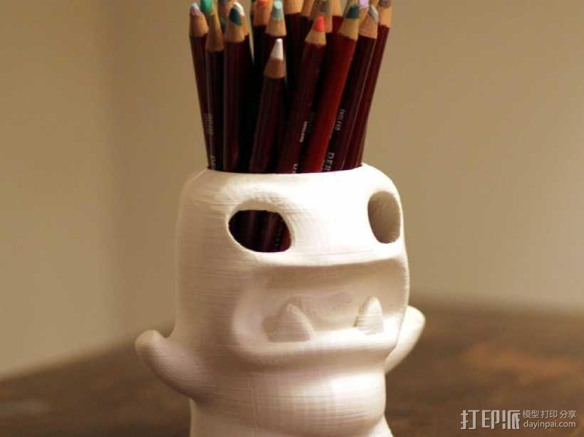 怪物铅笔筒模型 3D模型  图4