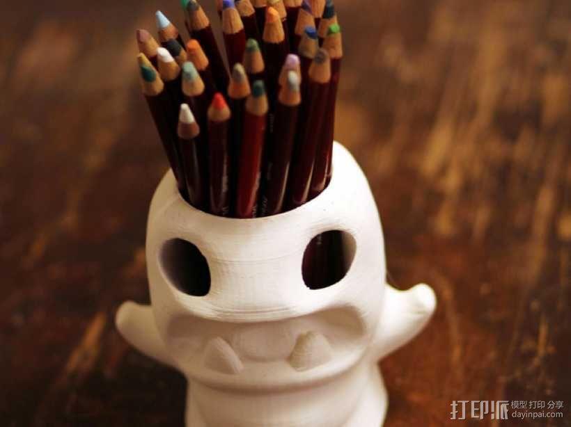 怪物铅笔筒模型 3D模型  图1