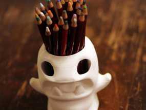 怪物铅笔筒模型 3D模型