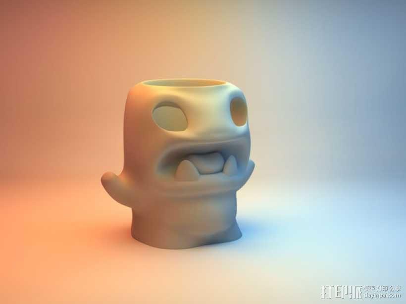 怪物铅笔筒模型 3D模型  图6