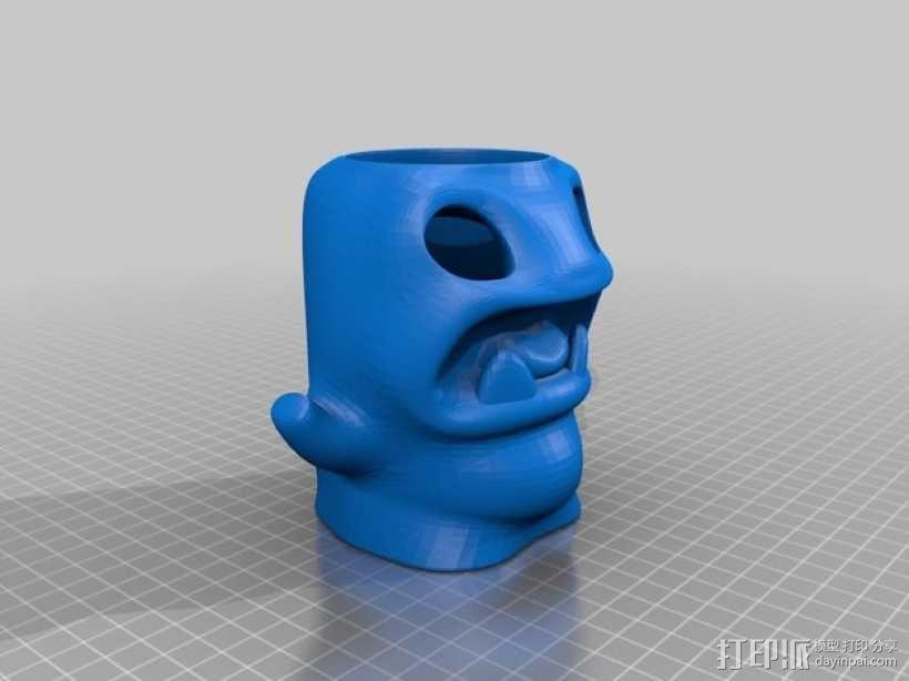 怪物铅笔筒模型 3D模型  图5