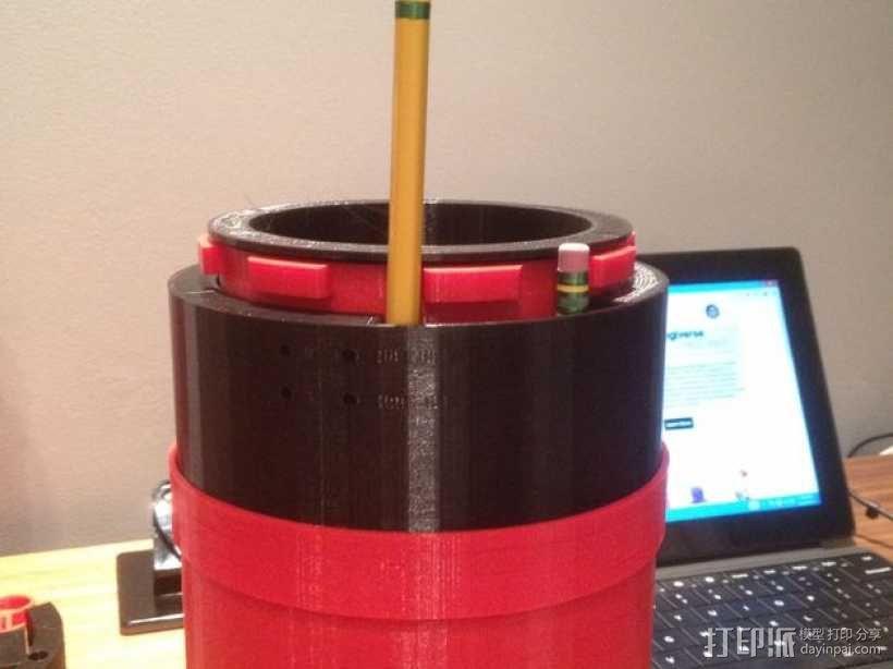 文具盒+铅笔套+伸缩尺 3D模型  图3
