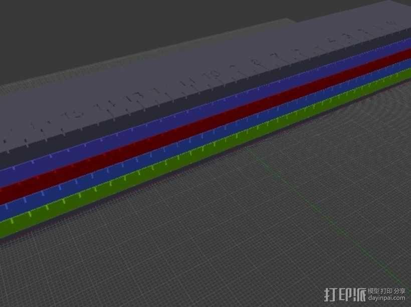 文具盒+铅笔套+伸缩尺 3D模型  图13
