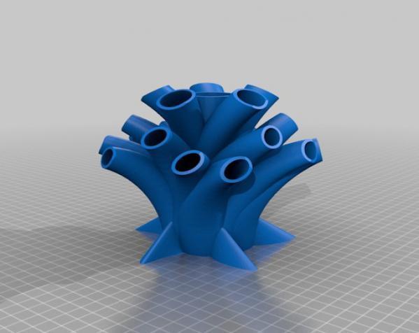 树干形笔筒模型 3D模型  图2