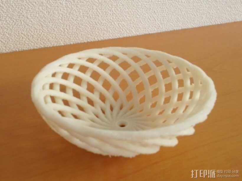 迷你竹篓模型 3D模型  图1