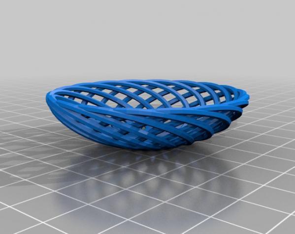 迷你竹篓模型 3D模型  图2