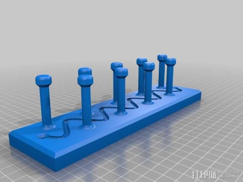 项链/领带/钥匙陈列架模型 3D模型  图2