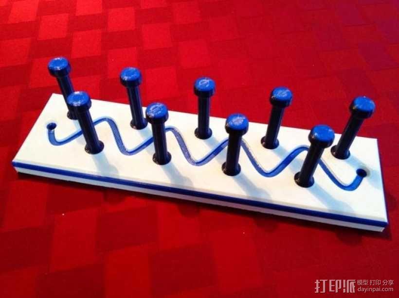 项链/领带/钥匙陈列架模型 3D模型  图4