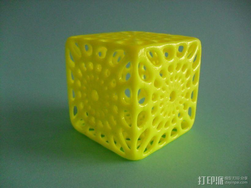 镂空立方体模型 3D模型  图1