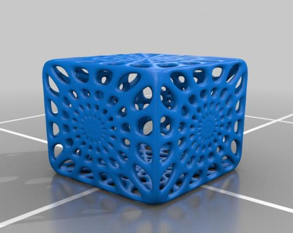 镂空立方体模型 3D模型  图3
