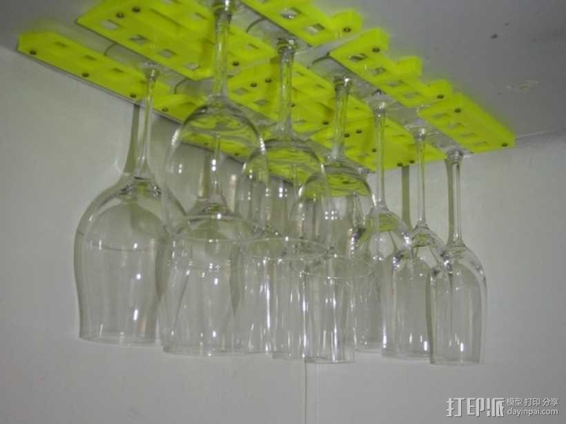 红酒杯固定架模型 3D模型  图1
