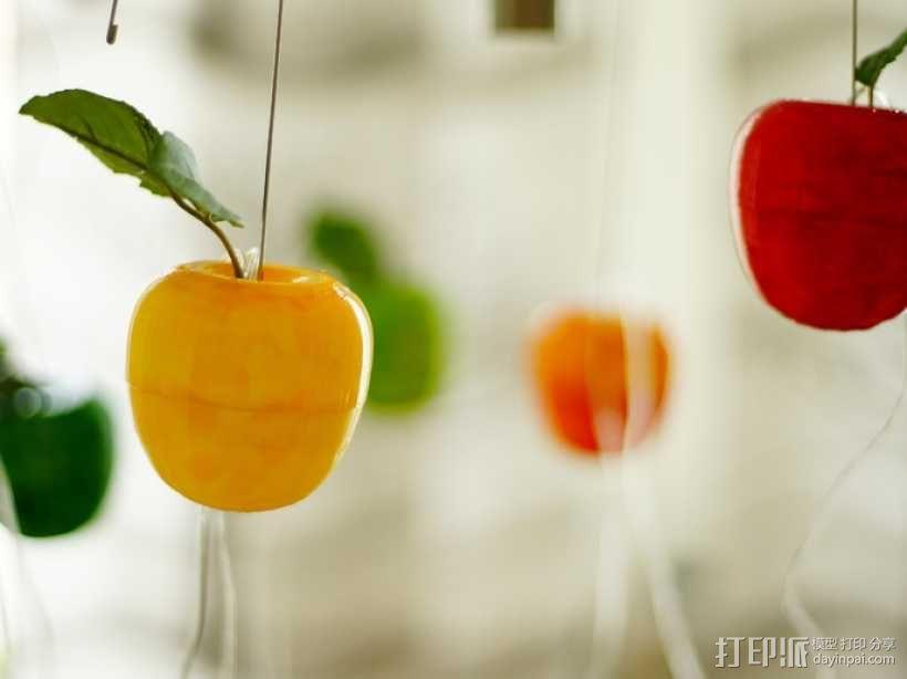 太阳能苹果形灯具模型 3D模型  图1