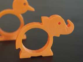 动物形餐巾环模型 3D模型