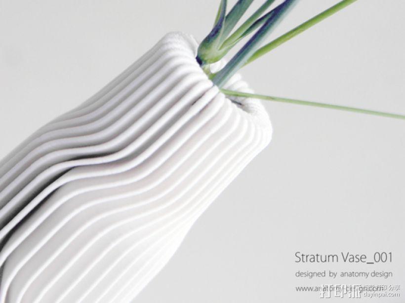 迷你波浪形花瓶模型001 3D模型  图2