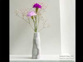 迷你波浪形花瓶模型001 3D模型