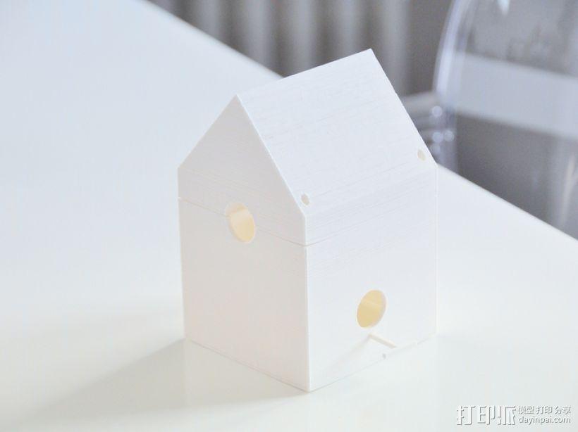 迷你鸟笼模型1 3D模型  图1