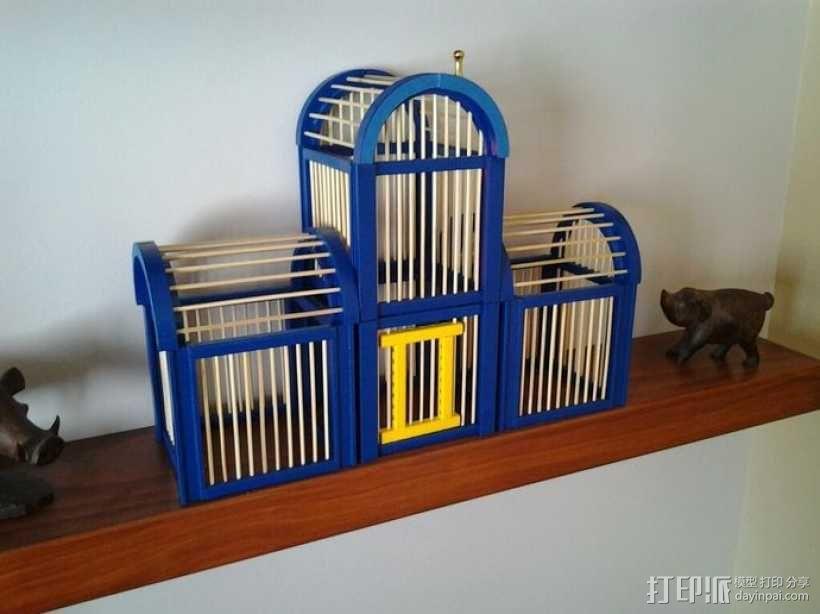 竹签鸟笼模型 3D模型  图1