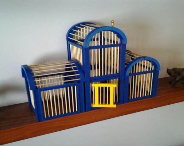 竹签鸟笼模型 3D模型  图6