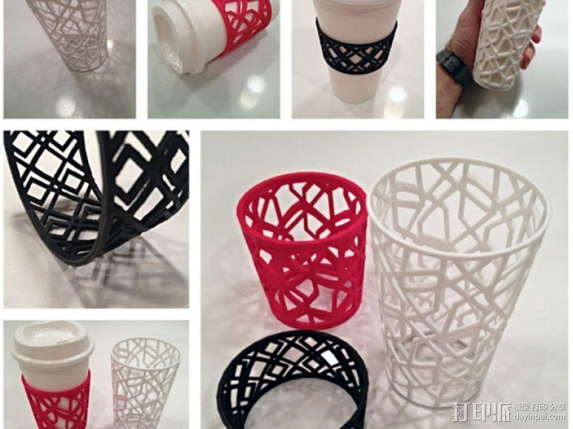 个性化咖啡杯/茶杯杯套模型 3D模型  图1