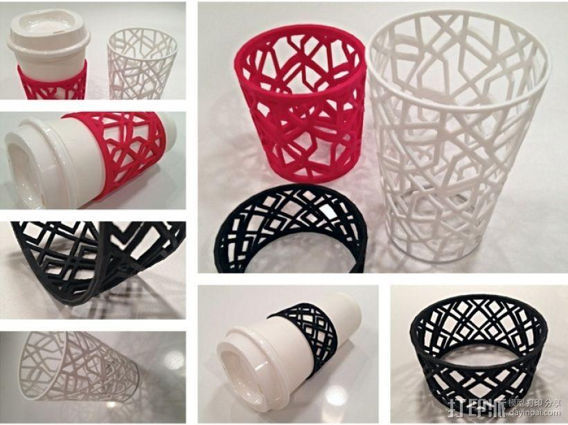个性化咖啡杯/茶杯杯套模型 3D模型  图2