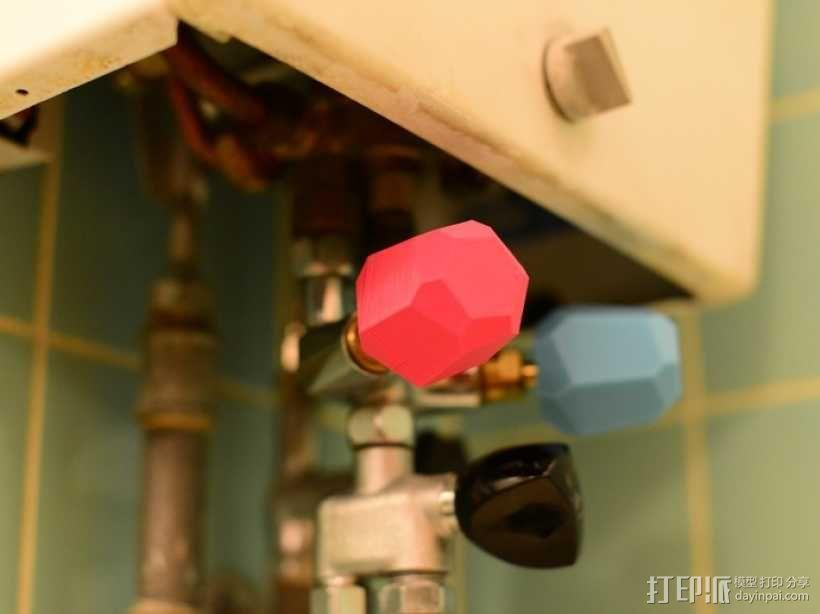 迷你水管接头套模型 3D模型  图1