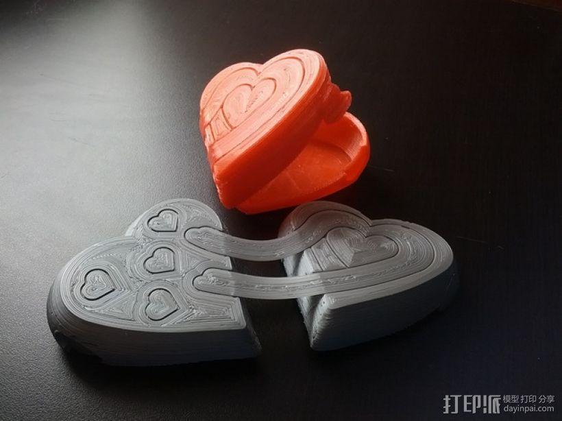 心形礼物盒模型 3D模型  图1