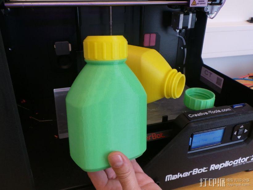3D打印的瓶子瓶盖模型 3D模型  图1