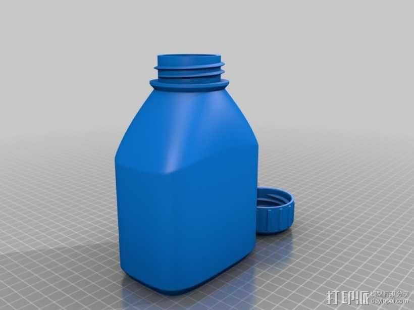 3D打印的瓶子瓶盖模型 3D模型  图3