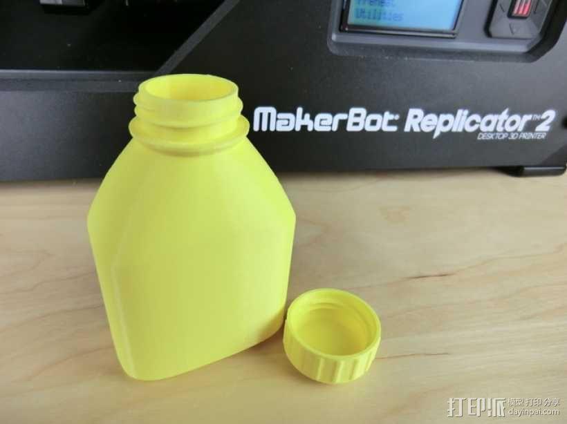 3D打印的瓶子瓶盖模型 3D模型  图5