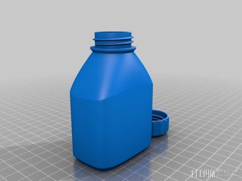 3D打印的瓶子瓶盖模型 3D模型  图6