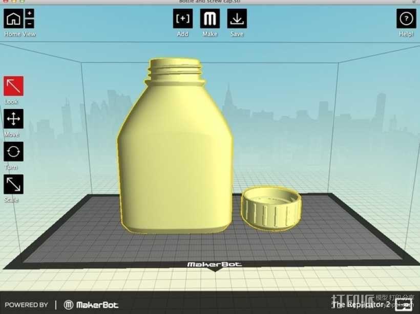 3D打印的瓶子瓶盖模型 3D模型  图9