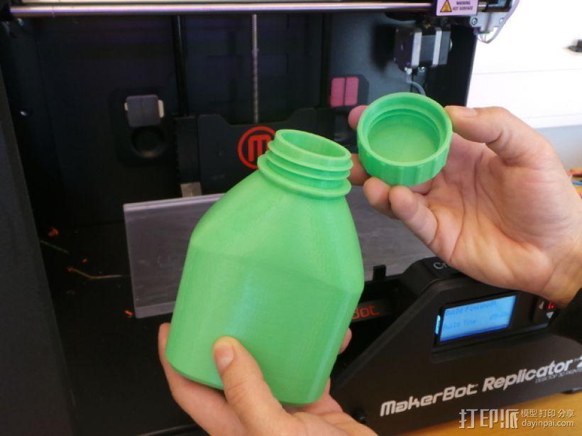 3D打印的瓶子瓶盖模型 3D模型  图10