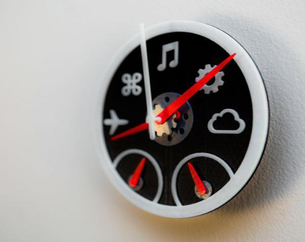 迷你仪表盘挂钟模型 3D模型  图4
