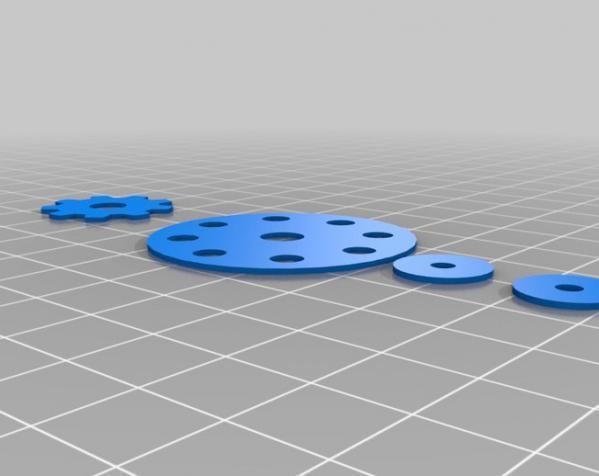 迷你仪表盘挂钟模型 3D模型  图8